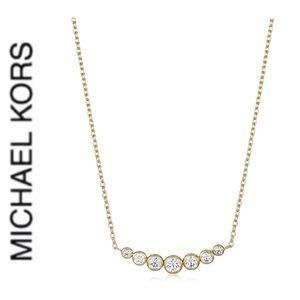 NWT authentic MK gold tone pendant